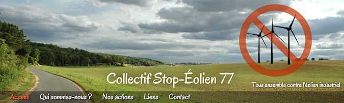 Site Internet du Collectif Stop-�olien 77